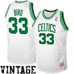 Mitchell & Ness Boston Celtics #33 Larry Bird 1992 Authentic Hardwood Classics Jersey - White