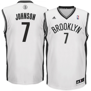 Joe Johnson Brooklyn Nets adidas Replica Home Jersey - White