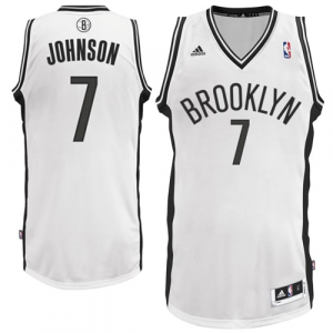 Joe Johnson Brooklyn Nets adidas Swingman Home Jersey - White