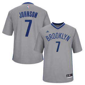 Joe Johnson Brooklyn Nets adidas Replica Jersey - Gray