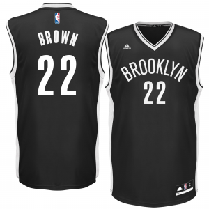 Mens Brooklyn Nets Markel Brown adidas Black Replica Road Jersey