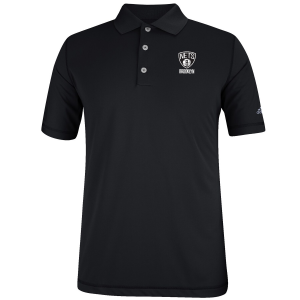 Brooklyn Nets adidas Puremotion Solid Jersey Polo - Black