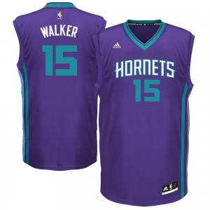 Kemba Walker Charlotte Hornets adidas Replica Jersey - Purple