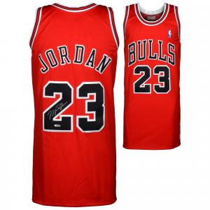 Michael Jordan Chicago Bulls Upper Deck Autographed 1997-98 Mitchell & Ness Red Jersey