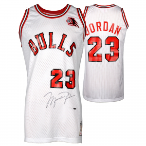 Michael Jordan Chicago Bulls Upper Deck Autographed White Jersey with ROY Patch-Limited Edition of 123