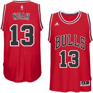 Joakim Noah Chicago Bulls adidas Youth 2014-15 New Swingman Road Jersey - Red