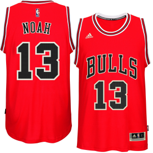 Joakim Noah Chicago Bulls adidas Player Swingman Road Jersey - Red