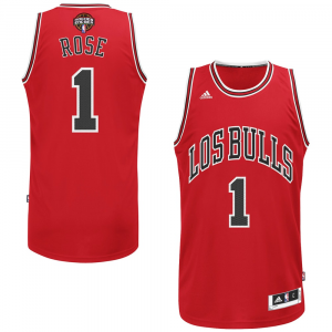 Derrick Rose Chicago Bulls adidas Noches Ene-Be-A Swingman Jersey - Red