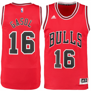 Pau Gasol Chicago Bulls adidas Road Swingman Jersey - Red
