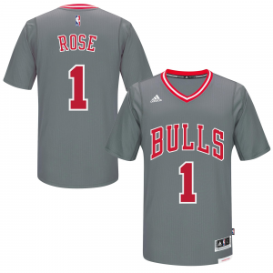 Derrick Rose Chicago Bulls adidas Pride Swingman Jersey - Gray