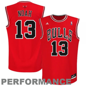 Joakim Noah Chicago Bulls adidas Replica Road Jersey - Red