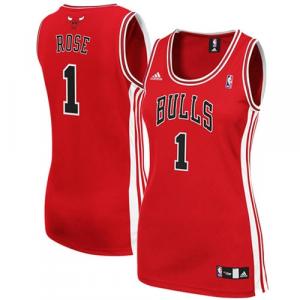 adidas Derrick Rose Chicago Bulls Women's Red Replica Jersey