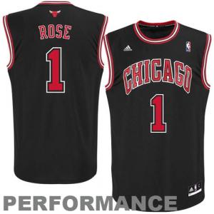 Derrick Rose Chicago Bulls adidas Youth Replica Alternate Jersey - Black