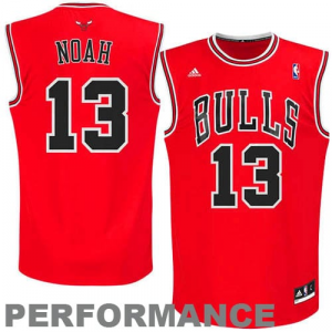 Joakim Noah Chicago Bulls adidas Youth Replica Road Jersey - Red