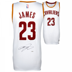 LeBron James Cleveland Cavaliers Upper Deck Autographed White Authentic Jersey