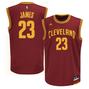LeBron James Cleveland Cavaliers adidas Replica Road Jersey - Wine
