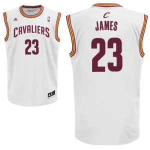 LeBron James Cleveland Cavaliers adidas Home Replica Jersey - White Home