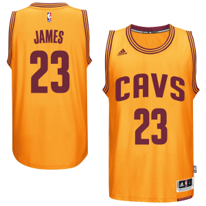 LeBron James Cleveland Cavaliers adidas Player Swingman Alternate Jersey - Gold