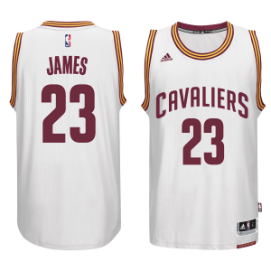 LeBron James Cleveland Cavaliers adidas Player Swingman Home Jersey - White Home