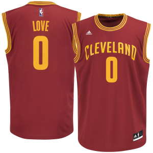 Mens Cleveland Cavaliers Kevin Love adidas Wine Replica Road Jersey