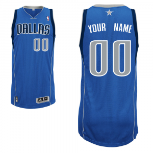 Dallas Mavericks adidas Custom Authentic Road Jersey - Blue