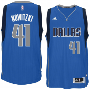 Dirk Nowitzki Dallas Mavericks adidas Player Swingman Road Jersey - Blue