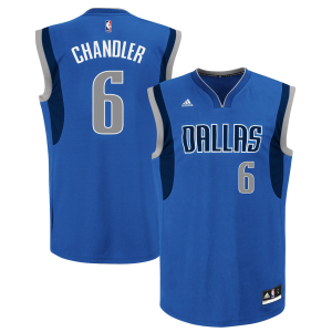 Tyson Chandler Dallas Mavericks adidas Road Replica Jersey - Royal Blue