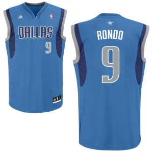 Rajon Rondo Dallas Mavericks adidas Road Replica Jersey - Royal Blue