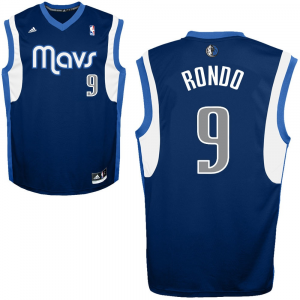 Rajon Rondo Dallas Mavericks adidas Replica Alternate Jersey - Navy Blue