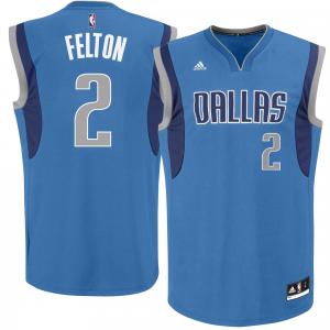 Mens Dallas Mavericks Raymond Felton adidas Royal Blue Road Replica Jersey