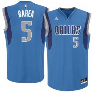 Mens Dallas Mavericks J.J. Barea adidas Royal Blue Road Replica Jersey