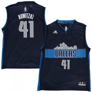 Dirk Nowitzki Dallas Mavericks adidas Youth Cityscape Replica Jersey - Navy