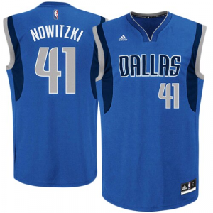 Dirk Nowitzki Dallas Mavericks adidas Replica Road Jersey - Royal Blue