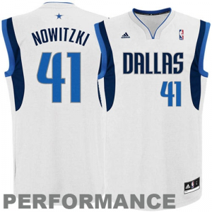 Dirk Nowitzki Dallas Mavericks adidas Replica Home Jersey - White Home