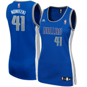 adidas Dirk Nowitzki Dallas Mavericks Women's Fashion Jersey - Royal Blue