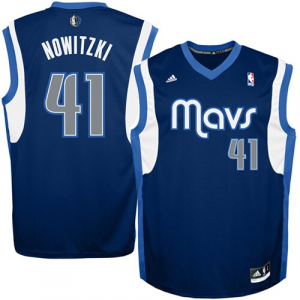 Dirk Nowitzki Dallas Mavericks adidas Replica Alternate Jersey - Navy Road Blue