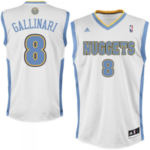 Danilo Gallinari Denver Nuggets adidas Replica Home Jersey - White Home