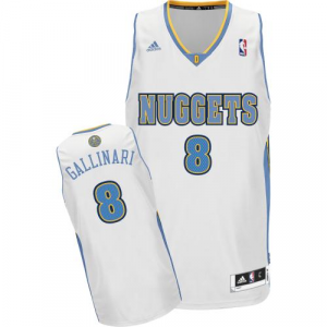 Danilo Gallinari Denver Nuggets adidas Swingman Home Jersey - White Home
