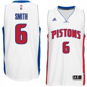 Josh Smith Detroit Pistons adidas Youth Boy's Replica Jersey - White