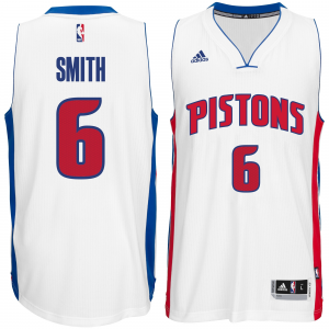 Josh Smith Detroit Pistons adidas Player Swingman Home Jersey - White