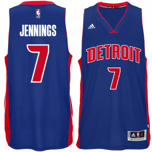 Brandon Jennings Detroit Pistons adidas Player Swingman Road Jersey - Royal