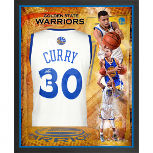 Stephen Curry Golden State Warriors Fanatics Authentic Framed Autographed White Swingman Jersey Collage