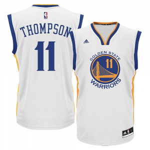 Klay Thompson Golden State Warriors adidas Alternate Replica Jersey - White