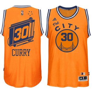 Stephen Curry Golden State Warriors adidas Current Player Hardwood Classics Swingman climacool Jersey - Gold