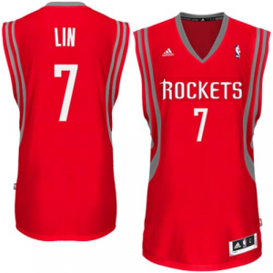 Jeremy Lin Houston Rockets adidas Swingman Road Jersey - Red