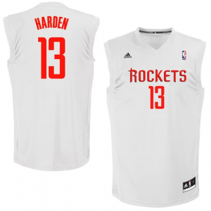 adidas James Harden Houston Rockets Fashion Replica Jersey - White