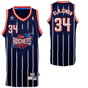 Hakeem Olajuwon Houston Rockets adidas Hardwood Classics Swingman Jersey - Navy Blue