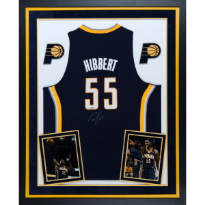Roy Hibbert Indiana Pacers Fanatics Authentic Deluxe Framed Autographed Adidas Swingman Blue Jersey