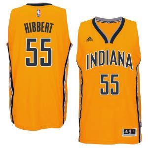 Roy Hibbert Indiana Pacers adidas Player Swingman Alternate Jersey - Gold