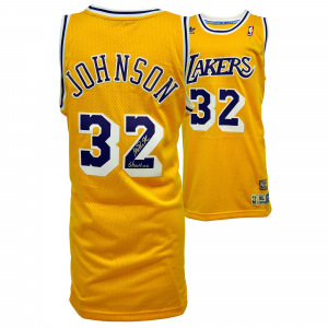 Magic Johnson Los Angeles Lakers Fanatics Authentic Autographed Yellow Adidas Swingman Jersey with Showtime Inscription